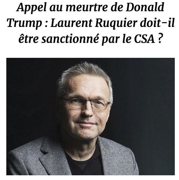 [SONDAGE VALEURS] Appel au meurtre de Donald Trump : Laurent Ruquier doit-il être sanctionné par le CSA ? >> https://t.co/uKYIU29fx7