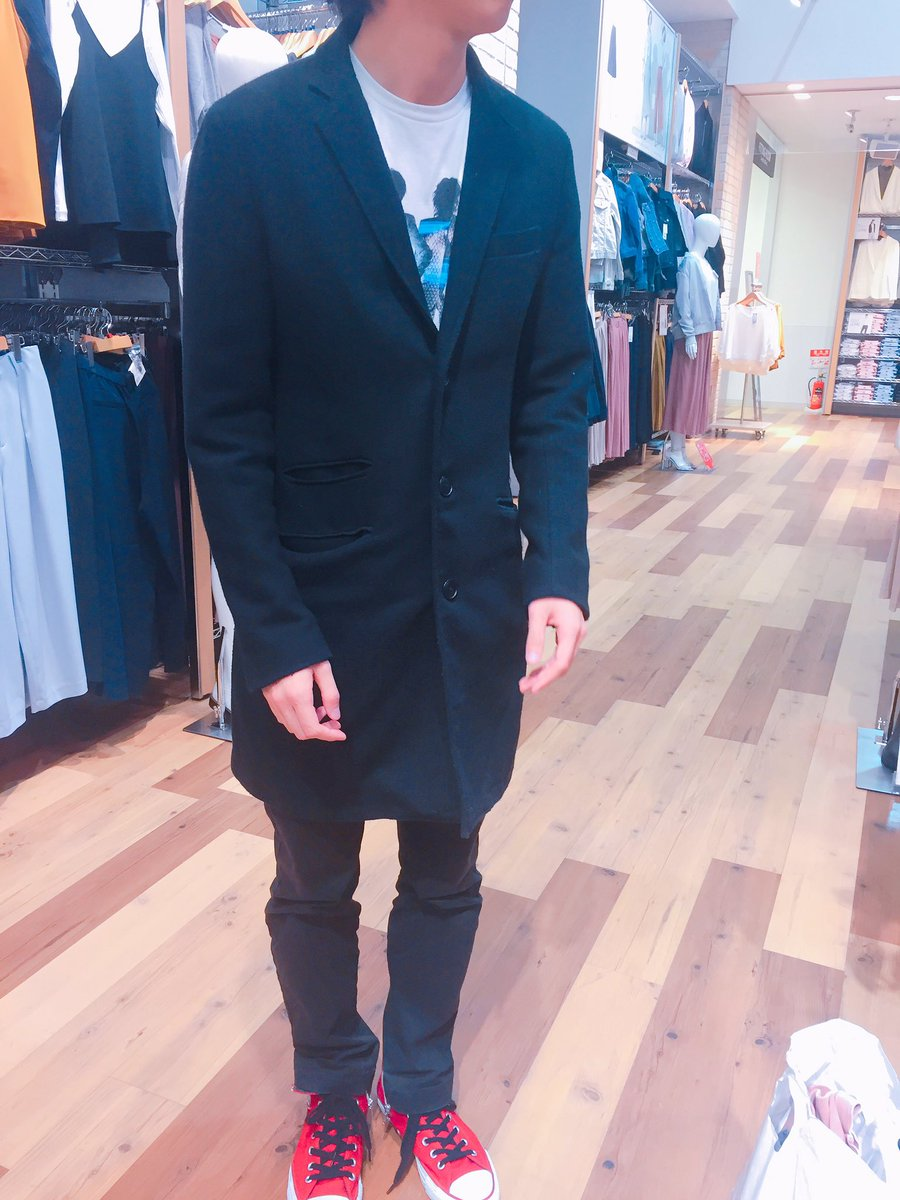 👾着せ替え企画👾before←→after色物一切着ない全身モノクロシャドバガチ勢サイコパスまこっちゃんを1万円以内で春