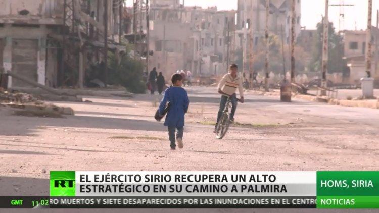 VIDEO El Ejército sirio recupera un alto estratégico en su camino a Palmira