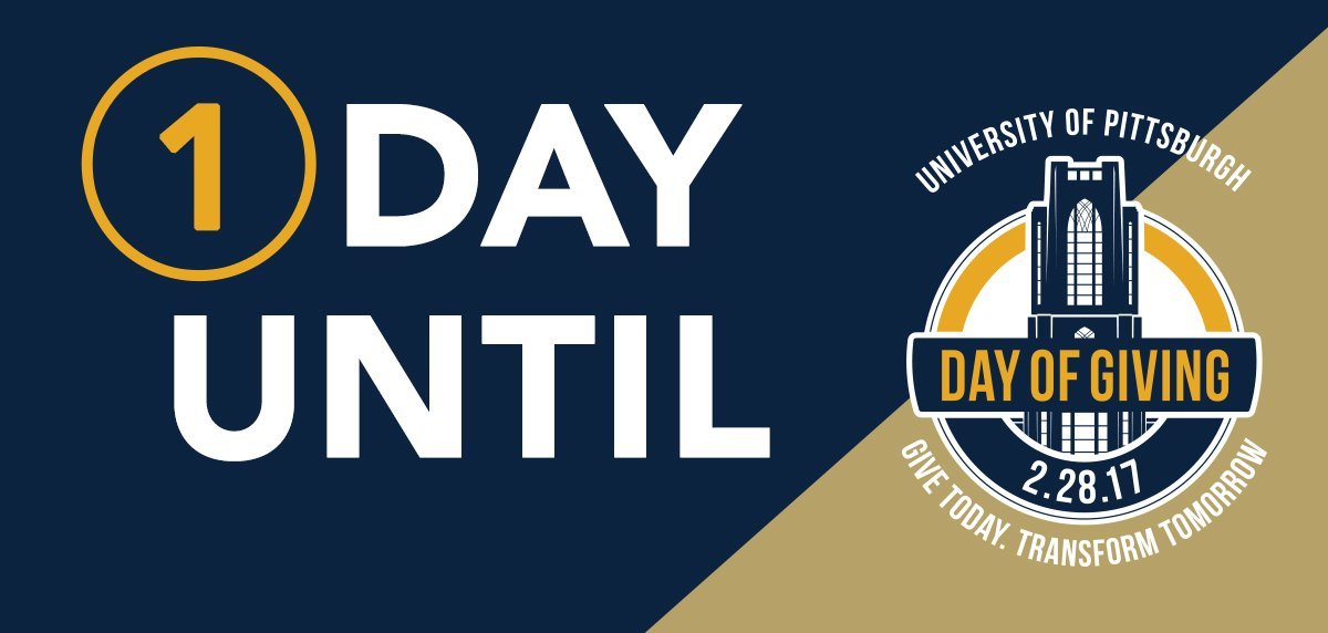 TOMORROW is #PittDayofGiving! Help us celebrate our founding by giving back. #H2P @PittAlumni https://t.co/0YQU1GTZfx