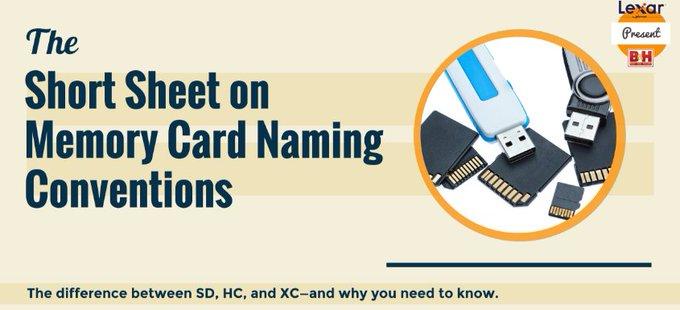 @BHPhotoVideo: The Short Sheet on Memory Card Naming Conventions: https://t.co/GOcuQzbVcw https://t.co/tpNITdyjhc