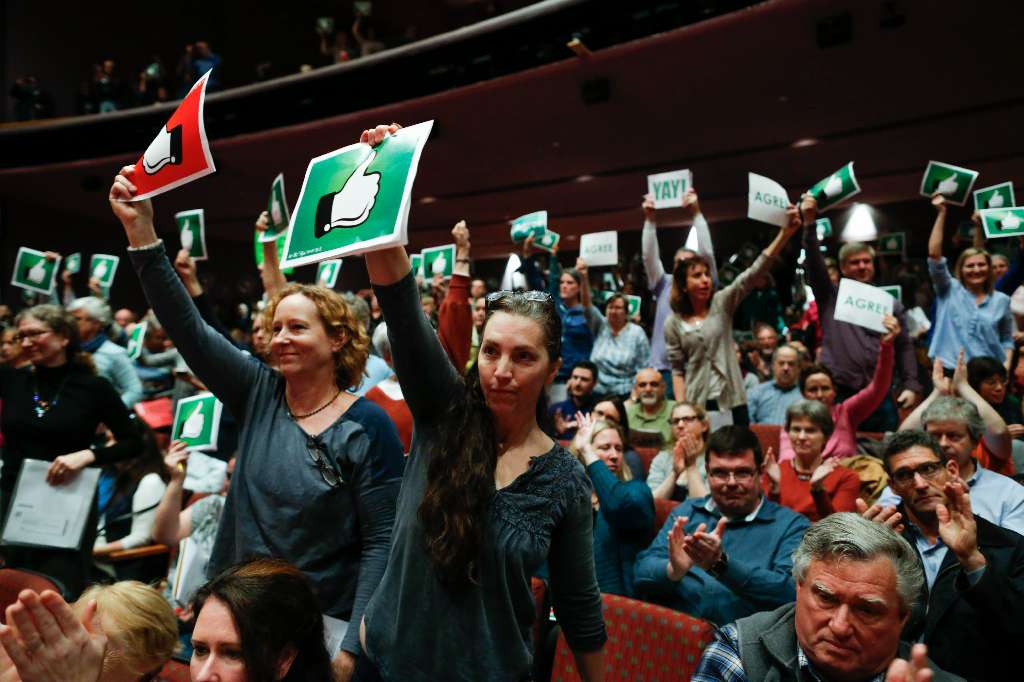 There's no evidence that protesters are paid to disrupt GOP town hall meetings.