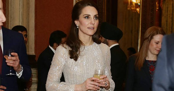 Just duchess things: Kate Middleton was a sparkling vision at a royal reception: