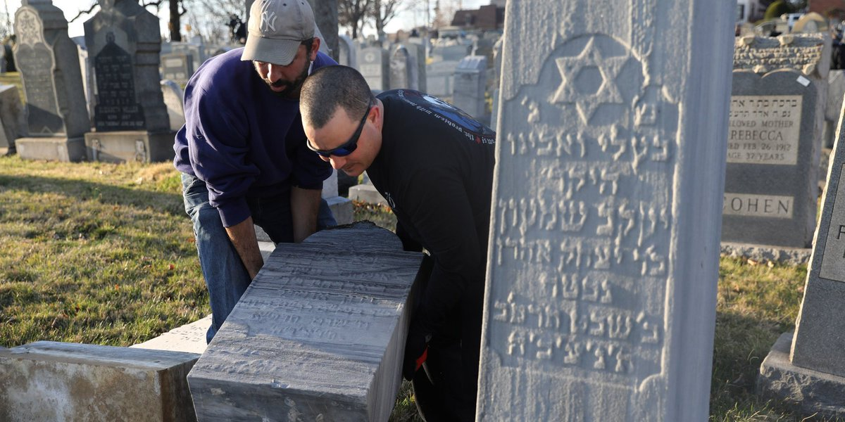 Muslim activists promise to help rebuild second vandalized Jewish cemetery