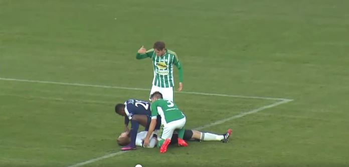 Soccer player credited with saving opponent's life after collision on the pitch
