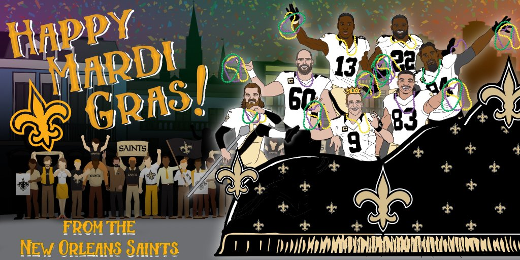 Everywhere else, it's just Tuesday.Happy Mardi Gras!