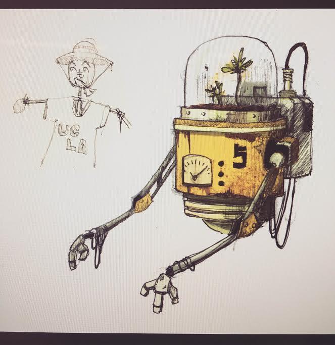 Working on a personal project. 環境を守るロボットパーソナルデザインプロジェクトを始めて見