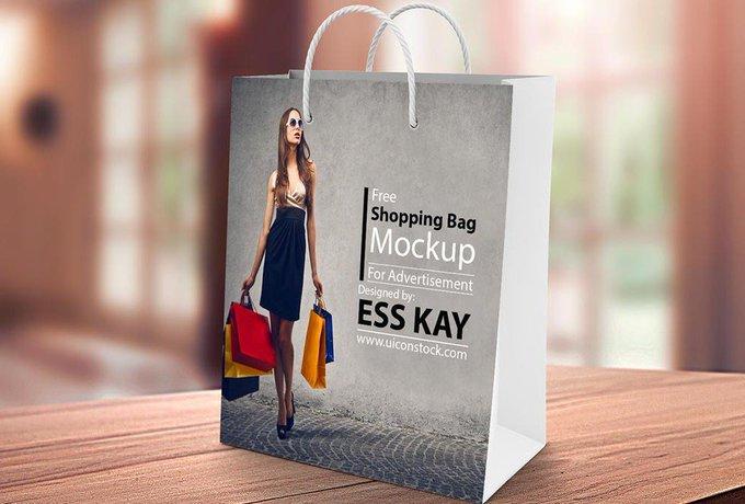 Shopping Paper Bag Mockup bag free freebie freebies mockup shopping shoppingbag