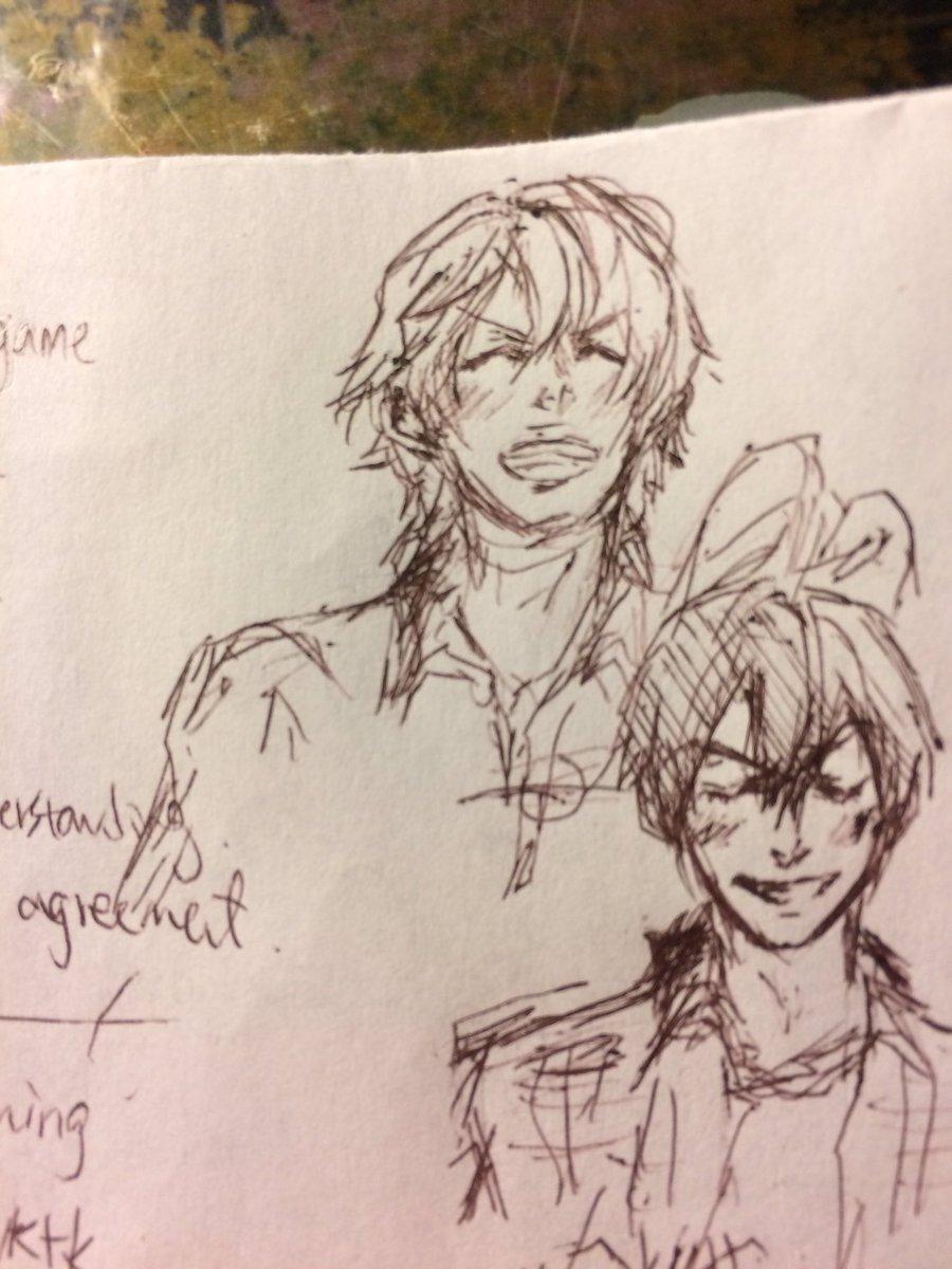 何かのラフ画…(゚ω゚)Sketch for something i'll be working on..