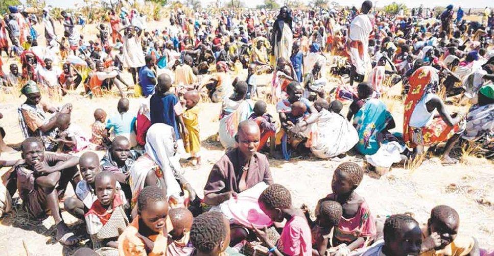 S. Sudan refugees enter Sudan escaping famine