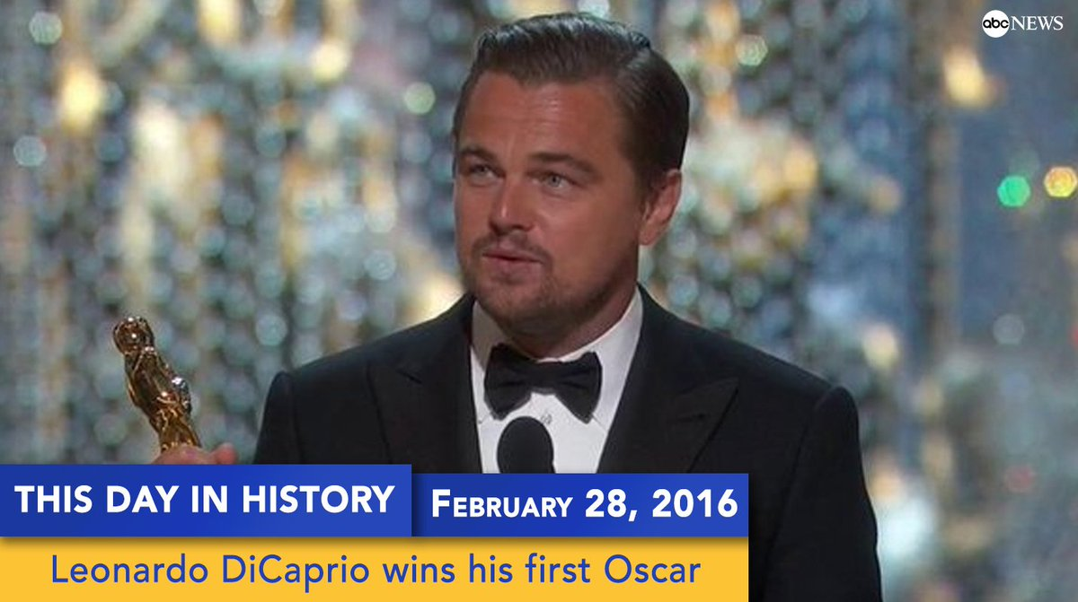 On this day last year, @LeoDiCaprio won his first @TheAcademy Award. #Oscars