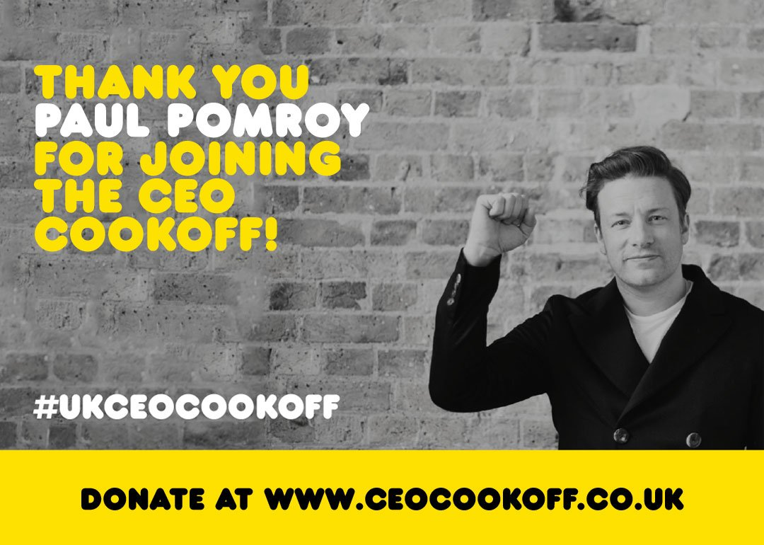 Shout out to Paul Pomroy @McDonaldsUKNews cheers for joining me in the #ukceocookoff appreciate the support !!! https://t.co/M3J6ZfBqpE