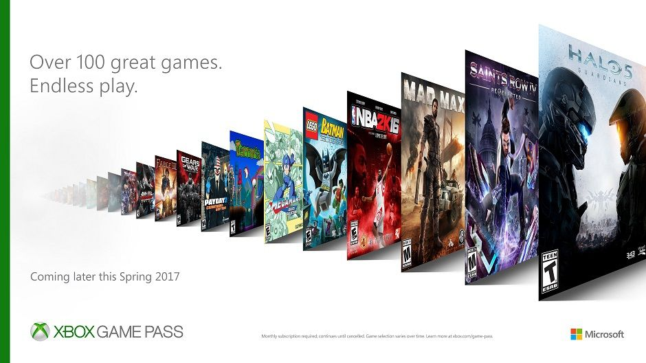 Microsoft's new Xbox Game Pass subscription grants access to more than 100 games