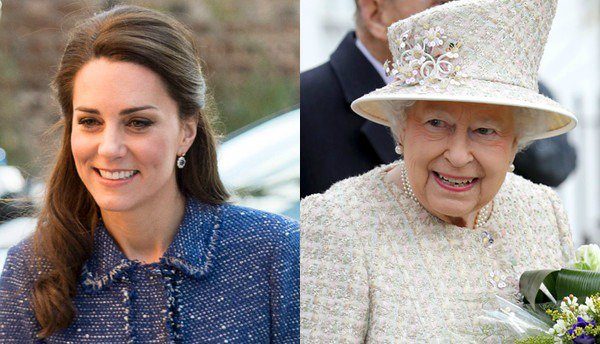 Kate Middleton and Queen Elizabeth II are twinning in tweed: