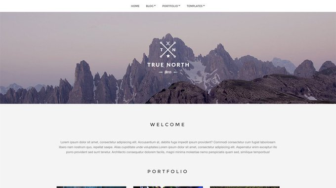 True North  Free Portfolio Theme for WordPress Freebie WP Theme