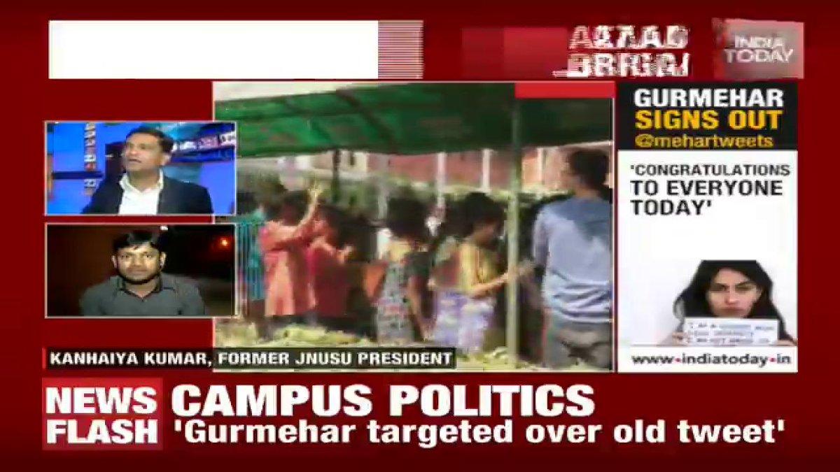 .@majorgauravarya shuts down @kanhaiyajnusu with his strong remarks. Live#Newsroom