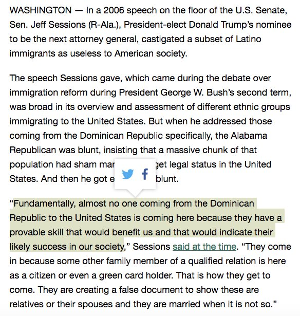 DNC Chair @TomPerez cites this Jeff Sessions quote at a @latinovictoryus event and says: 'Go shove it, sir.' https://t.co/dmu4iaK145