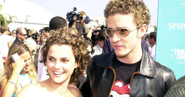 Keri Russell is proud of Justin Timberlake but she still sees him as a little kid: