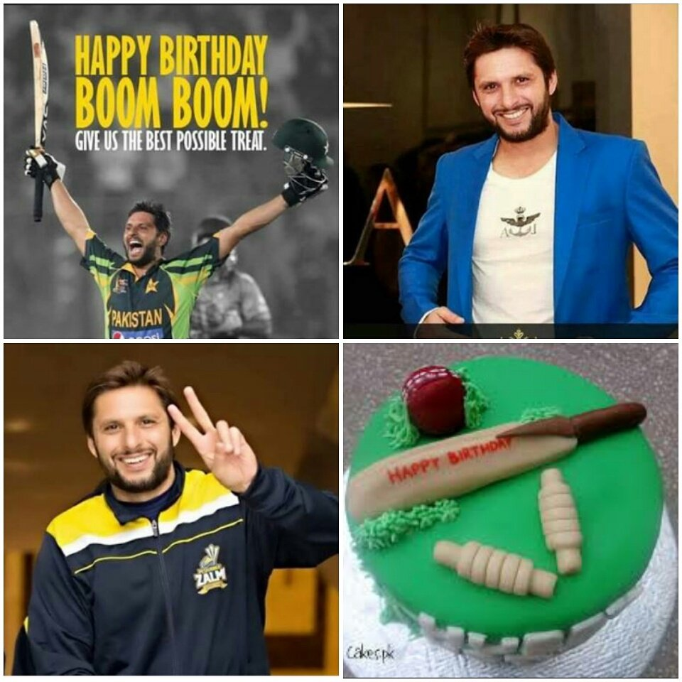 happy birthday Mr.Shahid khan Afridi...