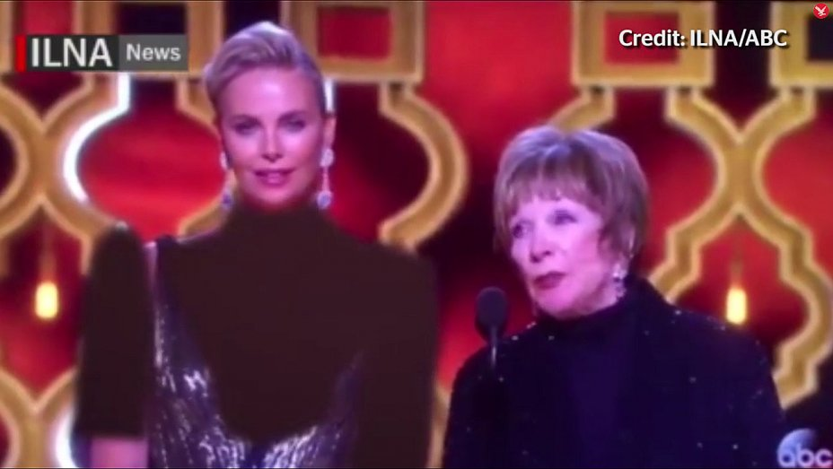 Iranian TV crudely covers up Charlize Theron for local Oscars broadcast