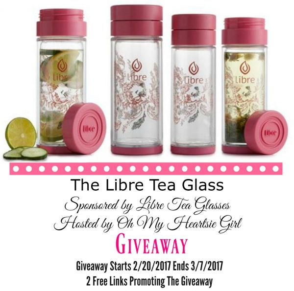 Libre Tea Glass #Giveaway Ends 3/7