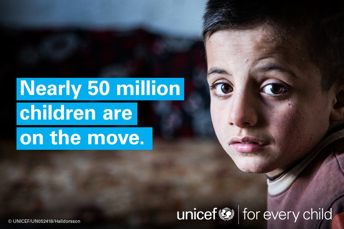 Let's #jointogether to support #childrenuprooted. @UNICEF info is here: https://t.co/2OnIBfdQFp  #foreverychild https://t.co/nTciy73Gqt