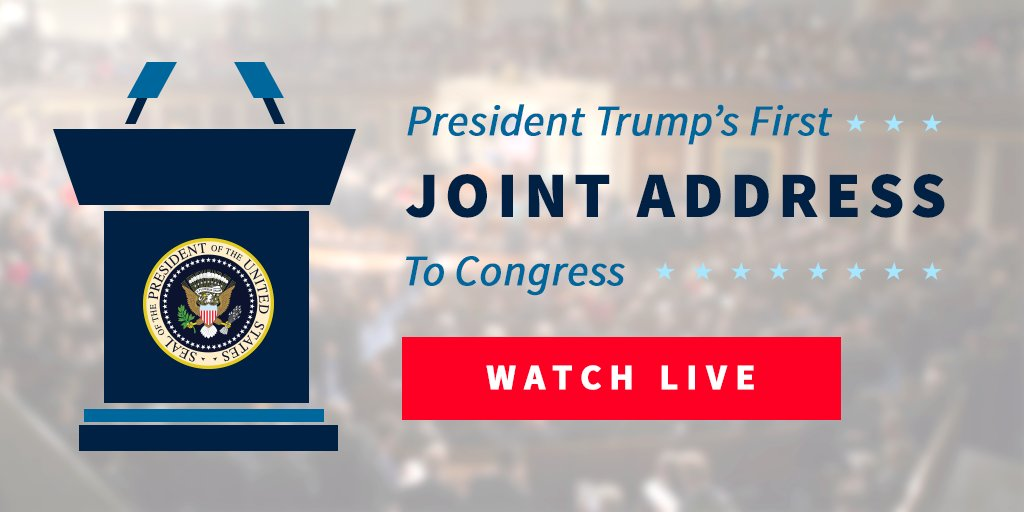 Tune in LIVE tonight at 9pm EST for @POTUS Trump's #JointAddress
