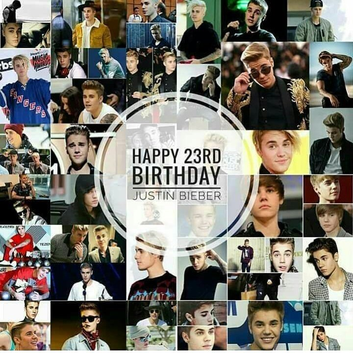 HAPPY 23TH BIRTHDAY JUSTIN BIEBER!
