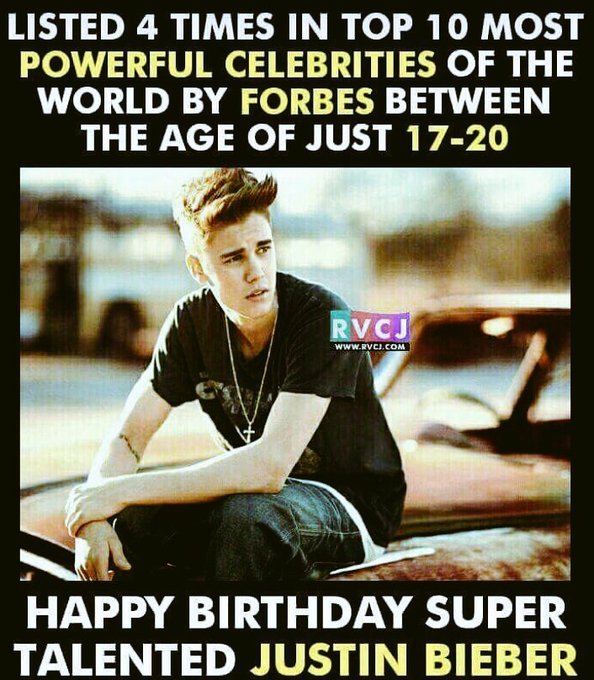 Happy Birthday Justin Bieber