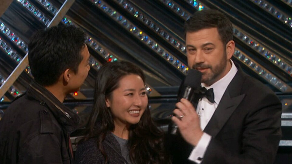 Shocked couple at Oscars says 'it was as fun as it looked'