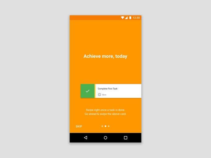 Todo List App Onboarding    Template by souvik_maity2 freebie