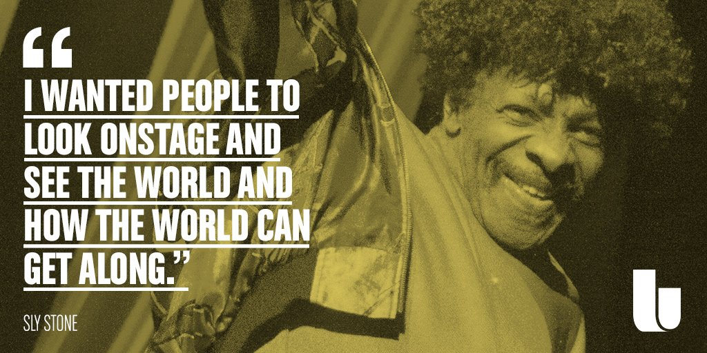 Happy birthday to the great Sly Stone, whose contributions to music - along with his band -  cannot be overstated.