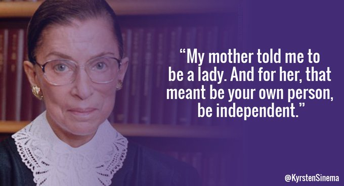 Happy birthday, Ruth Bader Ginsburg!