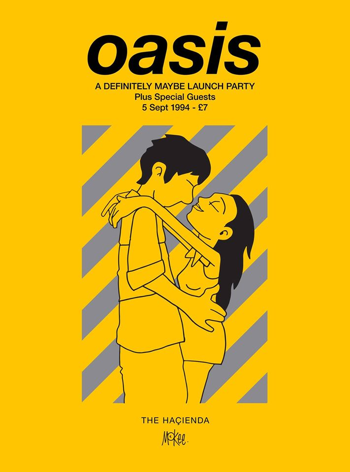 Long term Oasis collaborator @petemckee has created a special commemorative poster for Oasis' '94 Hacienda show. https://t.co/MdGiWT1FgI