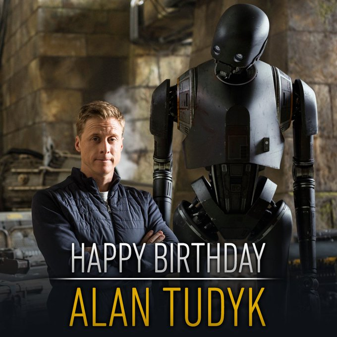Today we\re wishing happy birthday to the man behind K-2SO, Alan Tudyk! Cassian said we had to...