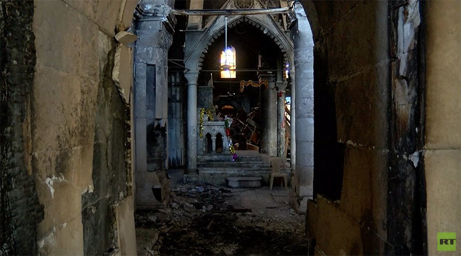 360° ghost town: Streets of Christian Iraqi town in ruins (VIDEO)