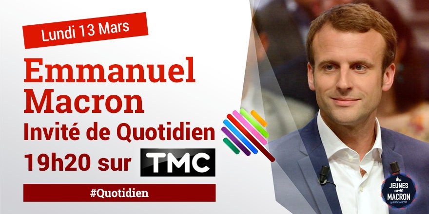 �� #DIRECT @EmmanuelMacron invité ce soir de #Quotidien sur @TMCtv �� ➡️https://t.co/dQ700MWfxl https://t.co/nB1TBeMZl8