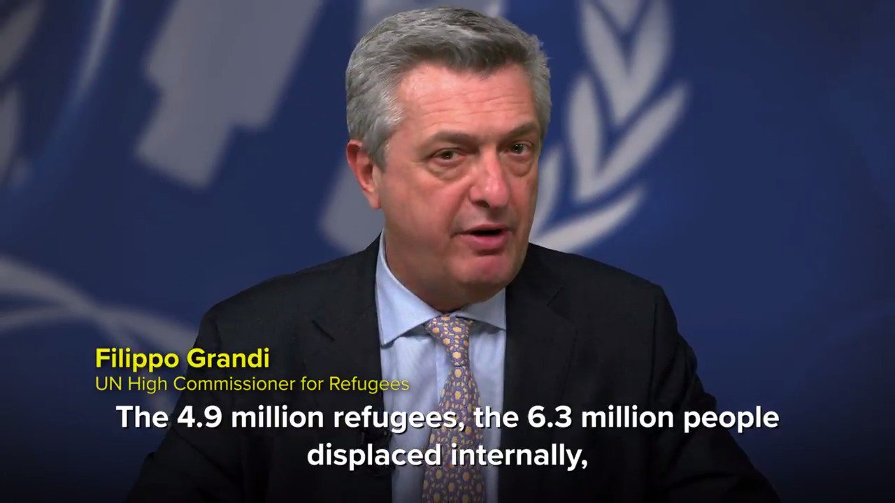 Our @RefugeesChief's statement on the 6th anniversary of the Syrian war: https://t.co/txz3ViJiPo #SyriaCrisis https://t.co/cIzMwxGwJj