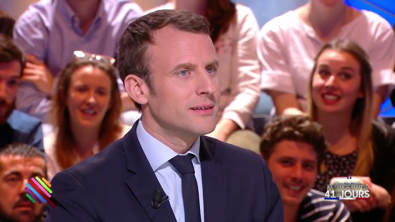 Emmanuel Macron : « Je supporte l'Olympique de Marseille. » Stupeur dans le public. �� #Quotidien https://t.co/loFLvVUyul