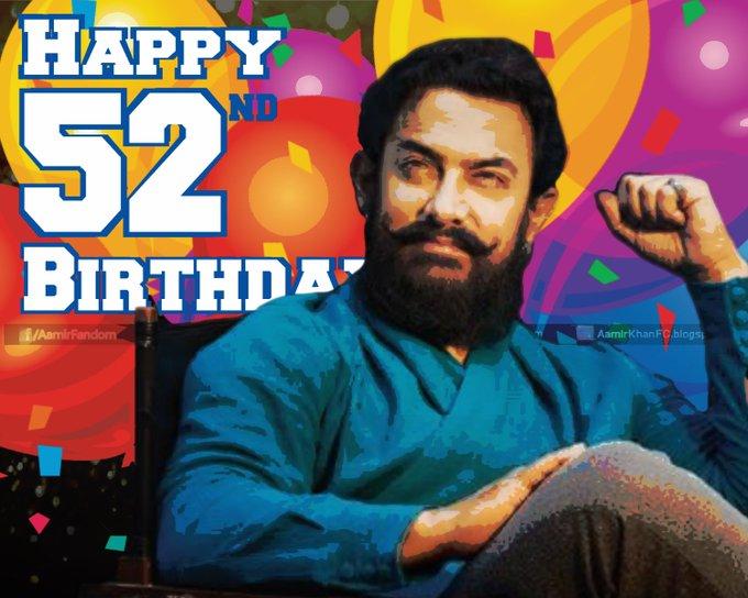 Wishing Aamir Khan A very Happy 52th Birthday, a bollywood legend.