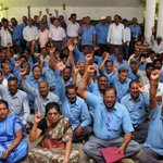 MPM workers stage protest