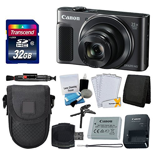 #free #camera #win #style #deals #giveaway #np Canon PowerShot SX620 HS Digital Camera (Black) + Transcend 32GB Memory Card + Point & Shoot Camera Case + Card Reader + Card Wallet + LCD Screen Protectors + 5 Piece Cleaning Kit + Complete Bundle #rt