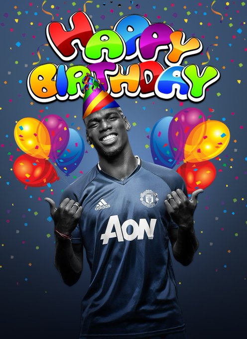 Happy Birthday Paul Pogba! Not only is it Pogba\s birthday today, it\s also mine! - .