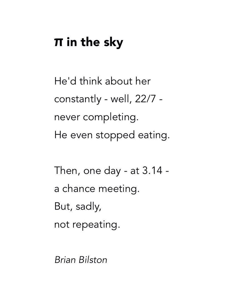 Here Is A Short Poem To Celebrate Piday Entitled In The Sky