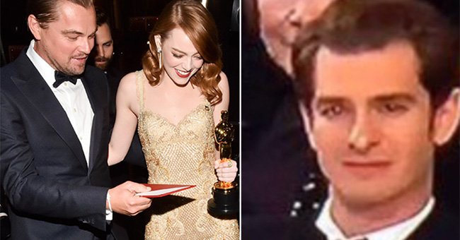 The unseen moment between Emma Stone and Andrew Garfield at the Oscars...