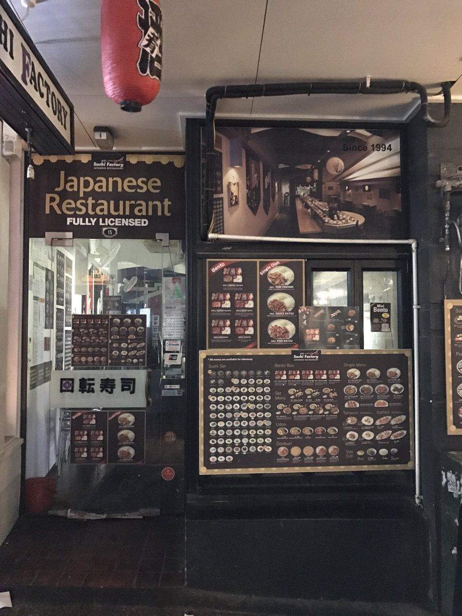 オークランドにいるのに100mごとに寿司屋に出会う。それもスシポリスが出動しそうな