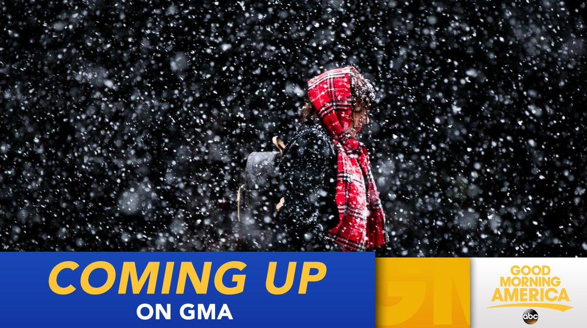 ON @GMA: 'Life threatening' winter storm bears down on Northeast: