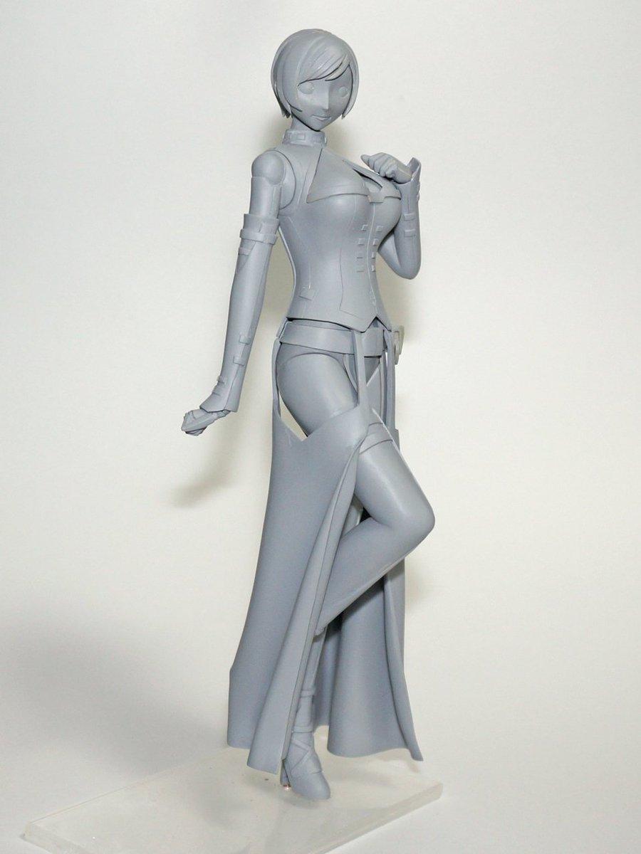 #シドニアの騎士 より科戸瀬イザナ(おばあちゃんの服ver)の原型完成しました3/26のGWCでおばあちゃんとともに展示
