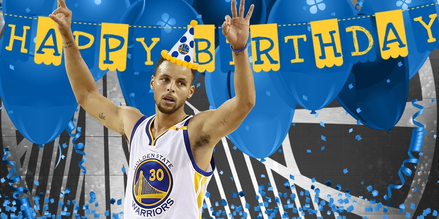 RT @warriors: #DubNation, please join us in wishing @StephenCurry30 a very Happy Birthday ???? https://t.co/cByjiIEk25