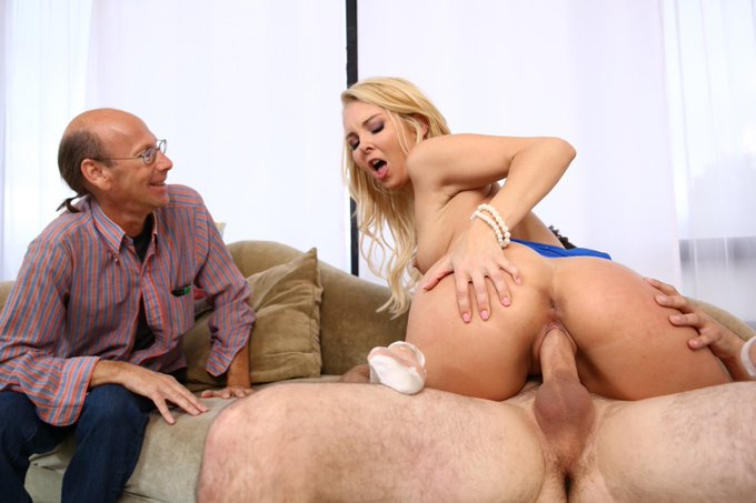 "4 pic. #ICYMI Watch MILF @AaliyahLove69 rides @BradKnightXXX huge young dick in ""PIMP MY WIFE 3"" https://t"
